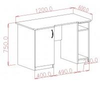 Стол компьютерный с дверью (0.76*1.2*0.65)