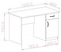 Стол компьютерный 1 шуфляда/1дверь (miniFix)