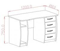 Стол компьютерный овальная дверь (0.76*1.2*0.65)