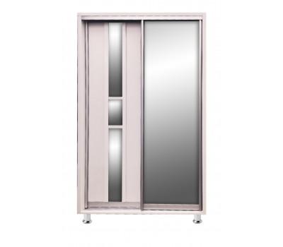 Шкаф-купе 1.2 м (1 дверь ДСП/1 дверь ЗЕРКАЛО) БК